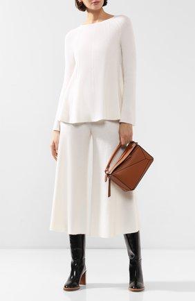 Женская кашемировый пуловер TSE белого цвета, арт. TWK027P19B   Фото 2