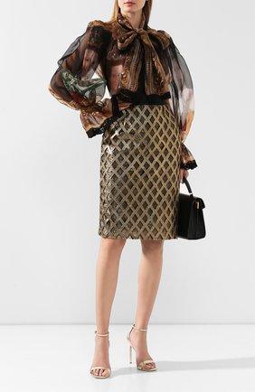 Женская юбка DOLCE & GABBANA золотого цвета, арт. F4BMWT/FGMDY | Фото 2