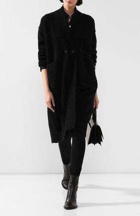 Женский шерстяной кардиган ISABEL BENENATO черного цвета, арт. DK83F19 | Фото 2