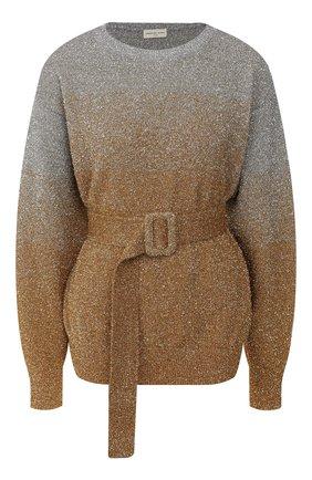 Женская пуловер с поясом DRIES VAN NOTEN золотого цвета, арт. 192-11226-8729 | Фото 1