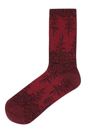 Женские носки с металлизированной нитью OROBLU бордового цвета, арт. V0BFCF5XSP | Фото 1