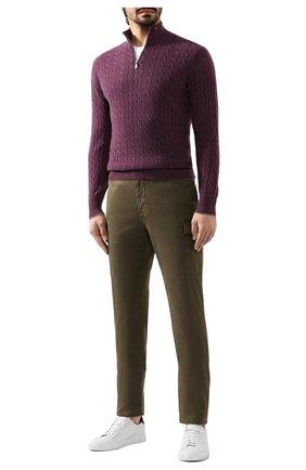 Мужской кашемировый джемпер BRUNELLO CUCINELLI фиолетового цвета, арт. M2226454 | Фото 2