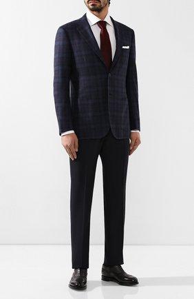 Мужской пиджак из смеси шерсти и кашемира KITON темно-синего цвета, арт. UG81K02S18 | Фото 2