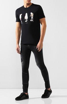 Мужские джинсы RH45 черного цвета, арт. 27HP80S | Фото 2 (Материал внешний: Хлопок, Деним; Силуэт М (брюки): Узкие; Длина (брюки, джинсы): Стандартные)