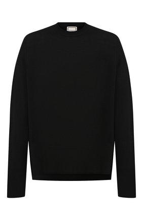 Мужской шерстяной джемпер WOOYOUNGMI черного цвета, арт. W193KN02507B | Фото 1