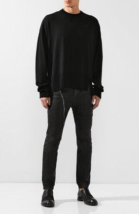 Мужской шерстяной джемпер WOOYOUNGMI черного цвета, арт. W193KN02507B | Фото 2