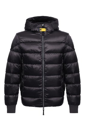 Мужская пуховая куртка PARAJUMPERS темно-серого цвета, арт. SX13/PHARRELL | Фото 1 (Материал подклада: Синтетический материал; Материал внешний: Синтетический материал; Принт: Без принта; Мужское Кросс-КТ: Пуховик-верхняя одежда, Верхняя одежда, пуховик-короткий; Длина (верхняя одежда): Короткие; Рукава: Длинные; Кросс-КТ: Пуховик, Куртка; Стили: Кэжуэл; Материал утеплителя: Пух и перо)