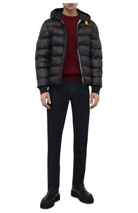 Мужская пуховая куртка PARAJUMPERS темно-серого цвета, арт. SX13/PHARRELL | Фото 2 (Материал подклада: Синтетический материал; Материал внешний: Синтетический материал; Принт: Без принта; Мужское Кросс-КТ: Пуховик-верхняя одежда, Верхняя одежда, пуховик-короткий; Длина (верхняя одежда): Короткие; Рукава: Длинные; Кросс-КТ: Пуховик, Куртка; Стили: Кэжуэл; Материал утеплителя: Пух и перо)