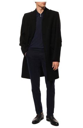 Мужское шерстяное поло GRAN SASSO темно-синего цвета, арт. 43137/14789   Фото 2