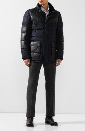 Куртка с кожаной отделкой | Фото №2