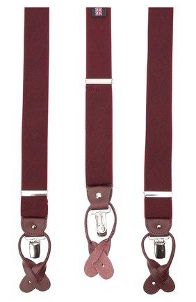 Мужские подтяжки с кожаной отделкой ALBERT THURSTON бордового цвета, арт. 9/2279 | Фото 2