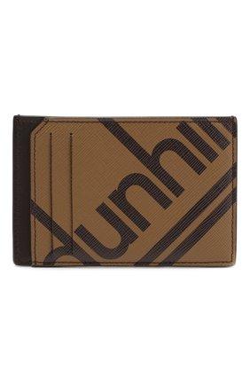 Мужской футляр для кредитных карт DUNHILL коричневого цвета, арт. DU19F260CSC | Фото 1