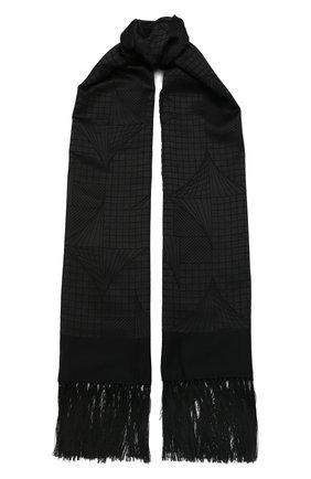 Мужской шарф из смеси кашемира и шелка ZILLI черного цвета, арт. MIS-MILLA-0WSSE/0001 | Фото 1