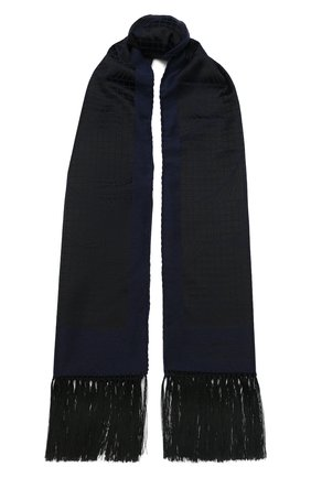 Мужской шарф из смеси кашемира и шелка ZILLI темно-синего цвета, арт. MIS-MILLA-0WSSE/0001 | Фото 1