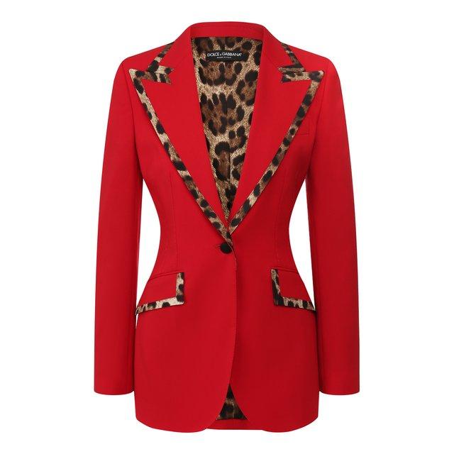 Жакет из смеси шерсти и шелка Dolce & Gabbana