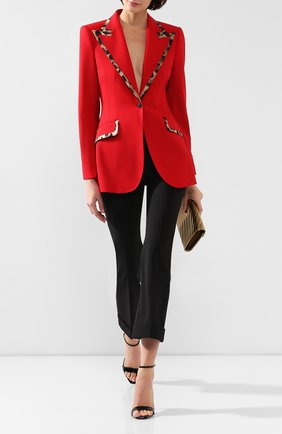 Женский жакет из смеси шерсти и шелка DOLCE & GABBANA красного цвета, арт. F297QT/FUBEI | Фото 2