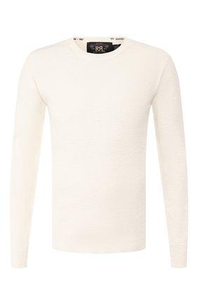 Мужская хлопковый лонгслив RRL белого цвета, арт. 782504858 | Фото 1
