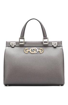 Женская сумка gucci zumi medium GUCCI серого цвета, арт. 564714/1B90X | Фото 1
