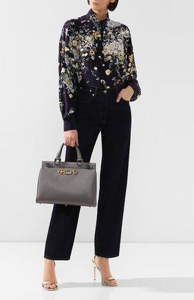 Женская сумка gucci zumi medium GUCCI серого цвета, арт. 564714/1B90X | Фото 2