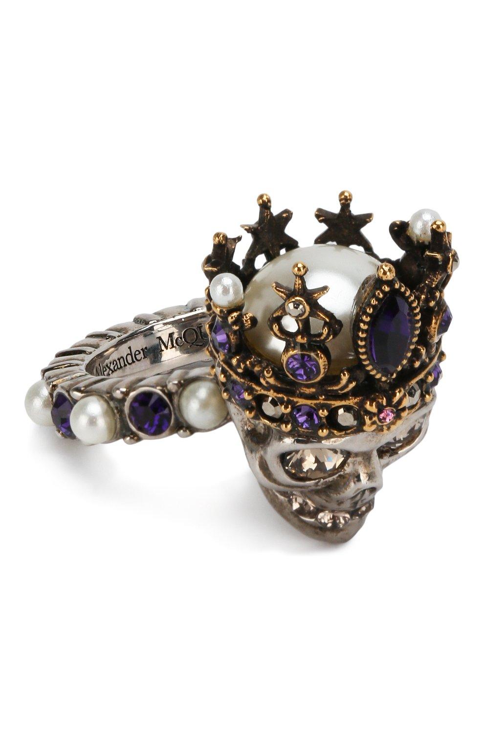 Женское кольцо ALEXANDER MCQUEEN серебряного цвета, арт. 553662/J160Z | Фото 1