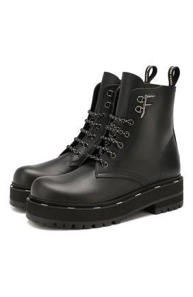 Женские кожаные ботинки FENDI черного цвета, арт. 8T6961 A7NH | Фото 1
