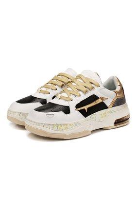 Кожаные кроссовки Drake | Фото №1