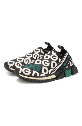 Женские текстильные кроссовки sorrento DOLCE & GABBANA зеленого цвета, арт. CK1595/AA886 | Фото 1