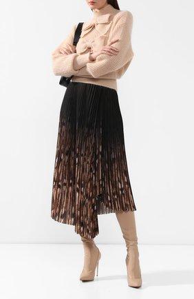 Женские текстильные ботфорты LE SILLA бежевого цвета, арт. 2139P100R1PPFAK | Фото 2