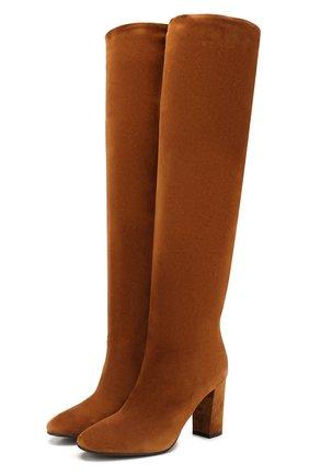 Женские замшевые сапоги LE SILLA коричневого цвета, арт. 7090P080R3XLP0W | Фото 1