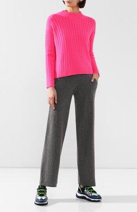 Женский кашемировый свитер ADDICTED розового цвета, арт. MK915   Фото 2