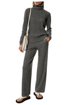 Женские кашемировые брюки ADDICTED серого цвета, арт. MK724 | Фото 2