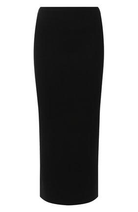 Женская шерстяная юбка TOTÊME черного цвета, арт. MURAN0 194-322-754 | Фото 1