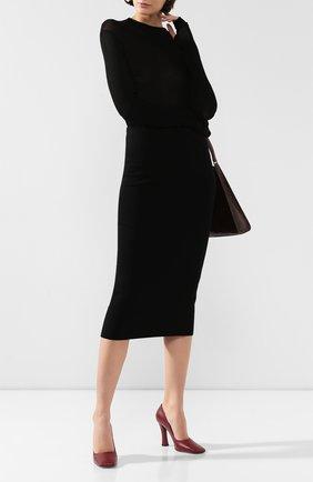 Женская шерстяная юбка TOTÊME черного цвета, арт. MURAN0 194-322-754 | Фото 2
