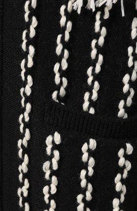 Женский шерстяной кардиган LOEWE черно-белого цвета, арт. D3298040SM   Фото 5