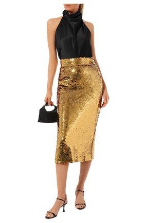 Женская юбка с пайетками DOLCE & GABBANA золотого цвета, арт. F4BQIT/FLMII | Фото 2