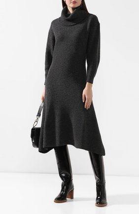 Женское шерстяное платье PRINGLE OF SCOTLAND темно-серого цвета, арт. WDG024 | Фото 2