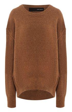 Женская шерстяной свитер ISABEL BENENATO бежевого цвета, арт. DK81F19 | Фото 1