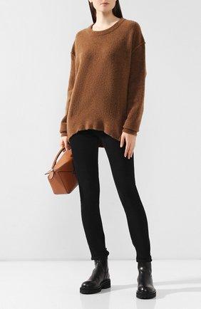 Женская шерстяной свитер ISABEL BENENATO бежевого цвета, арт. DK81F19 | Фото 2