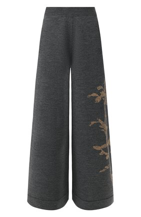 Женские шерстяные брюки DRIES VAN NOTEN серого цвета, арт. 192-11247-8726 | Фото 1
