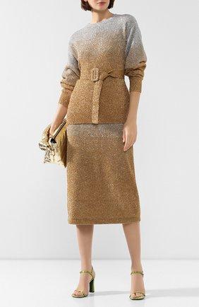 Женская юбка DRIES VAN NOTEN золотого цвета, арт. 192-11239-8729 | Фото 2