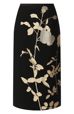 Женская юбка DRIES VAN NOTEN черного цвета, арт. 192-10852-8361 | Фото 1