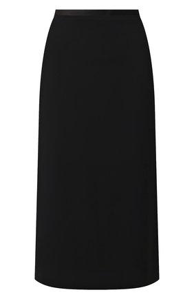 Женская шерстяная юбка DRIES VAN NOTEN черного цвета, арт. 192-10852-8227 | Фото 1