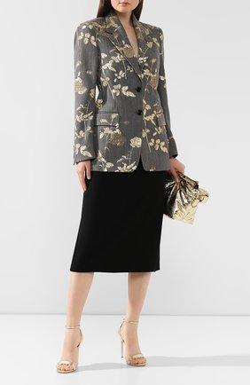Женская шерстяная юбка DRIES VAN NOTEN черного цвета, арт. 192-10852-8227 | Фото 2