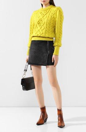Женская шерстяной свитер ISABEL MARANT желтого цвета, арт. PU1157-19H040I/MILF0RD | Фото 2