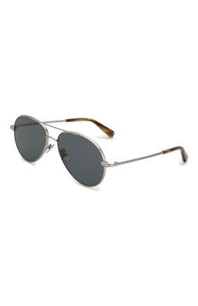 Мужские солнцезащитные очки BRIONI темно-серого цвета, арт. 0D2V00/P4ZBF | Фото 1