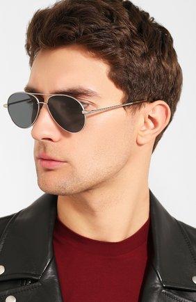 Мужские солнцезащитные очки BRIONI темно-серого цвета, арт. 0D2V00/P4ZBF | Фото 2