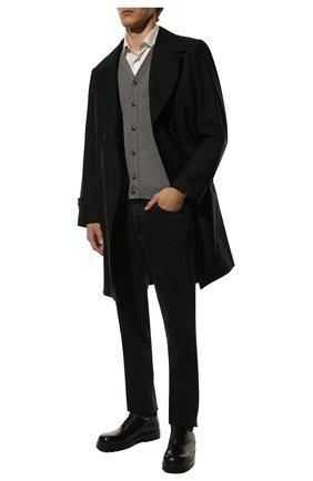 Мужской жилет из смеси кашемира и шелка KITON серого цвета, арт. UK07T | Фото 2