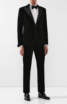 Мужской хлопковые брюки RALPH LAUREN черного цвета, арт. 798772471 | Фото 2