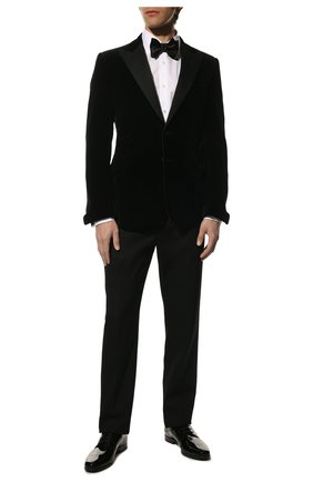 Мужской хлопковый пиджак RALPH LAUREN черного цвета, арт. 798777431 | Фото 2