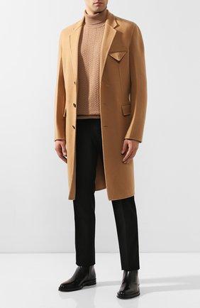 Мужской кашемировое пальто BOTTEGA VENETA бежевого цвета, арт. 584314/VF3W1 | Фото 2